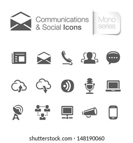 Communication & social related icons