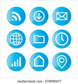 Communication web icon