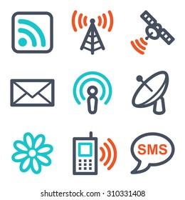 Communication web icons