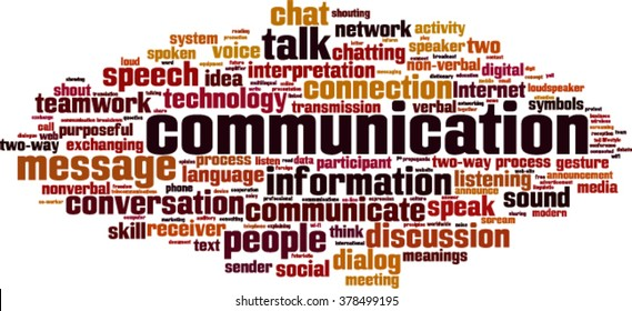 Communication word cloud concept. Vector illustration