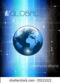 Communications concept background - vector illustration