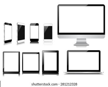 communicator modern device collection set