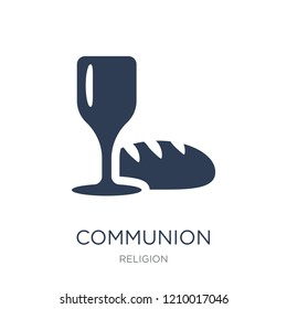 Communion icon. Trendy flat vector Communion icon on white background from Religion collection, vector illustration can be use for web and mobile, eps10