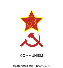 communism logo isolated on white background for your web, mobile and app design, communism icon concept