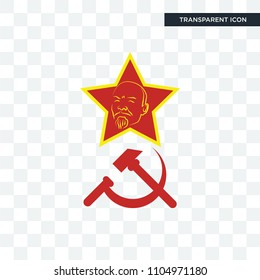 communism vector icon isolated on transparent background, communism logo concept