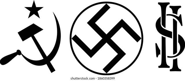 Communist Nazi Capitalist symbol icon