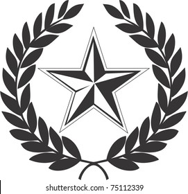 Communist  star and laurel wreath