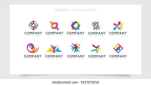 community care logo collection  design template
