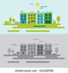 Community environment concept vector illustration