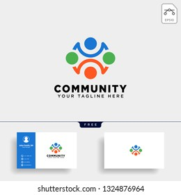 community human logo template vector illustration icon element isolated