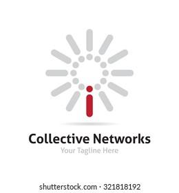 Community and individual icon logo