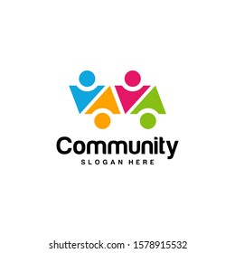 Community logo design inspiration vector template, Social relationship logo and icon, Adoption care logo concept, Icon symbol