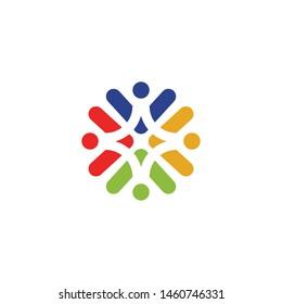 Community logo design vector template