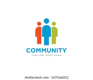 Community Logo Icon Design Vector