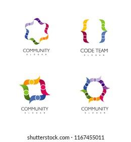 Community Logo, Set.