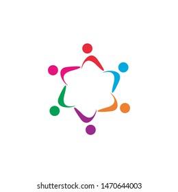 community logo template vector icon design