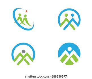 Community, network and social icon design template.