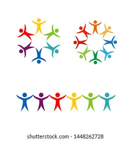 Community, network and social icon Logo template vector design template-or Community care
