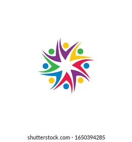 Community, network and social logo design template vector