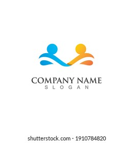 Community, network and social logo design template