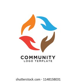 Community organization logo design template vector eps10