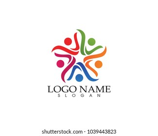Community people care logo and symbols template