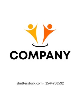 Community people logo design vector unique template