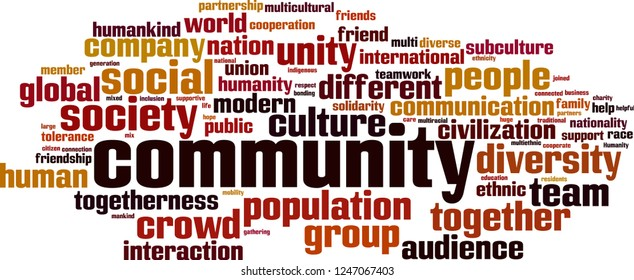 Community word cloud concept. Vector illustration