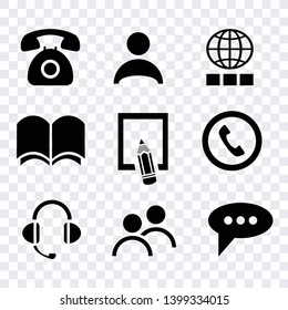 communucation computer and mobile phone icons set, sign smart telephone technology, commumication contact icons vector set