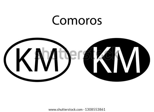 Comoros Country Code Icon Iso Code Stock Vector (Royalty