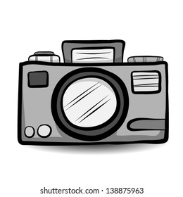 compact camera / cartoon vector and illustration, isolated on white background.