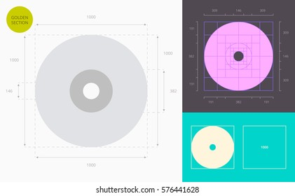 compact disc color icon (golden section)