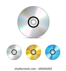 Compact disc. Vector illustration.