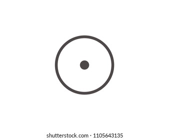 Compact disc web icon, CD or DVD disc icon isolated on white background, top view