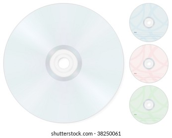 Compact disk isolated on a white background. Vector illustration.