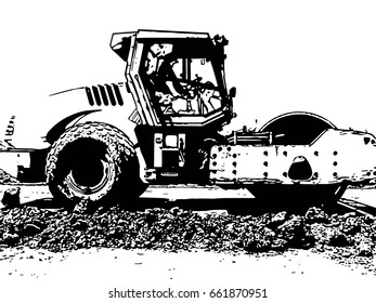 Compactor vector illustration
