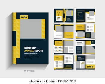 company annual report or company profile and pages business brochure. a4 size, fully editable.