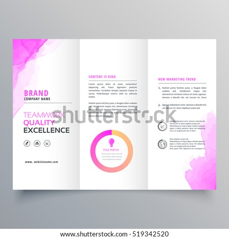 company business trifold brochure layout template stock vector