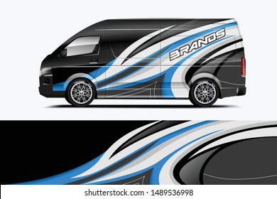 Company car wrap. wrap design for company car and services.