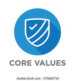 Company Core Values Outline Icon for Websites or Infographics