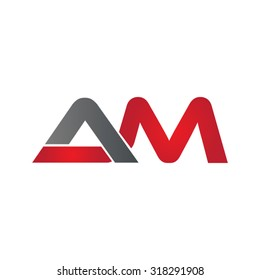 AM company group linked letter logo