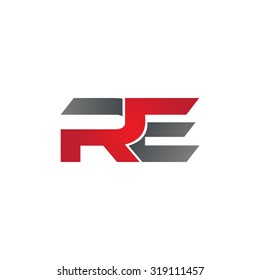RE company group linked letter logo