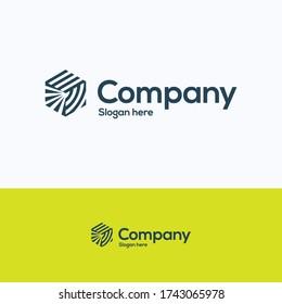Company Hexagon Logo. 3D-Linien Würfel Logo Vorlage. Isometrie-Logo mit verschiedenen Arten von Linien