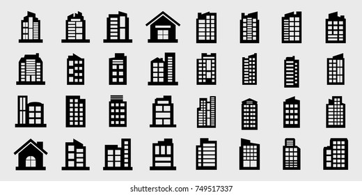 Company Icons, Building Vector illustration set