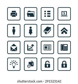 company icons universal set for web and mobile