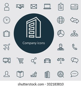 company Icons Vector set