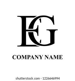 EG Company initial logo design