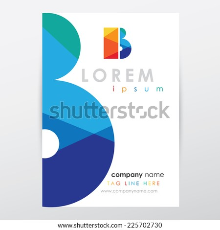 company letterhead stationery template multicolored letter stock