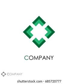 Company logo. Business finance professional icon template vector illustration.