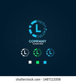 Company Logo Design initial icon vector